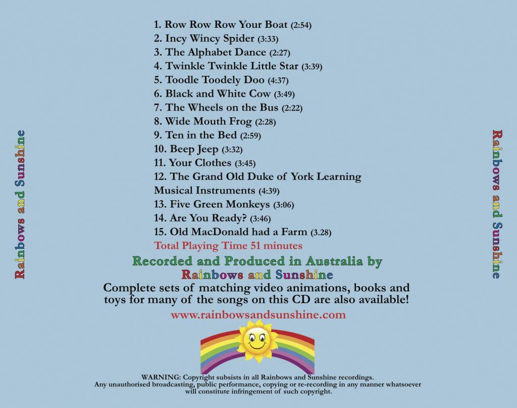 Rainbows and Sunshine CD Album