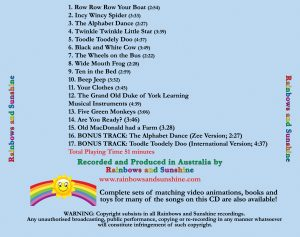 Track List Downloadable Album